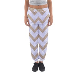 CHEVRON9 WHITE MARBLE & SAND (R) Women s Jogger Sweatpants