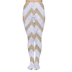 CHEVRON9 WHITE MARBLE & SAND (R) Women s Tights