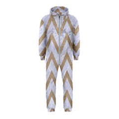 CHEVRON9 WHITE MARBLE & SAND (R) Hooded Jumpsuit (Kids)