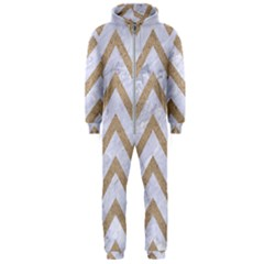 CHEVRON9 WHITE MARBLE & SAND (R) Hooded Jumpsuit (Men)