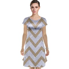 CHEVRON9 WHITE MARBLE & SAND (R) Cap Sleeve Nightdress