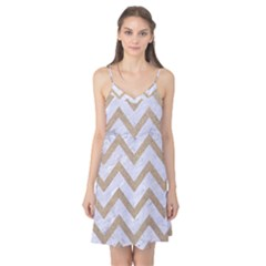 CHEVRON9 WHITE MARBLE & SAND (R) Camis Nightgown
