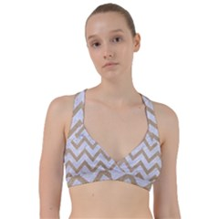 CHEVRON9 WHITE MARBLE & SAND (R) Sweetheart Sports Bra