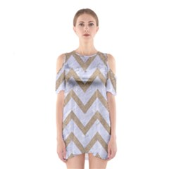CHEVRON9 WHITE MARBLE & SAND (R) Shoulder Cutout One Piece