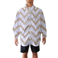 CHEVRON9 WHITE MARBLE & SAND (R) Wind Breaker (Kids)