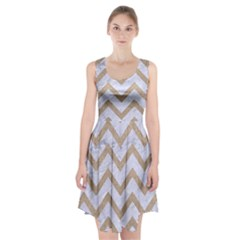 CHEVRON9 WHITE MARBLE & SAND (R) Racerback Midi Dress