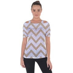CHEVRON9 WHITE MARBLE & SAND (R) Short Sleeve Top