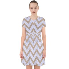 CHEVRON9 WHITE MARBLE & SAND (R) Adorable in Chiffon Dress
