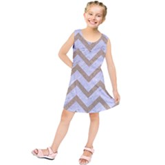 CHEVRON9 WHITE MARBLE & SAND (R) Kids  Tunic Dress