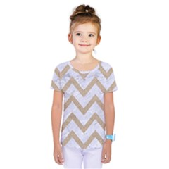 CHEVRON9 WHITE MARBLE & SAND (R) Kids  One Piece Tee
