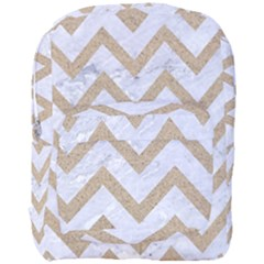 CHEVRON9 WHITE MARBLE & SAND (R) Full Print Backpack