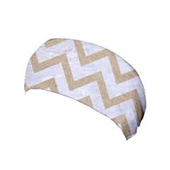 CHEVRON9 WHITE MARBLE & SAND (R) Yoga Headband