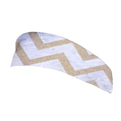 CHEVRON9 WHITE MARBLE & SAND (R) Stretchable Headband