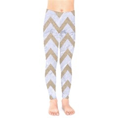 CHEVRON9 WHITE MARBLE & SAND (R) Kids  Legging