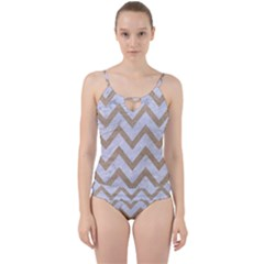 CHEVRON9 WHITE MARBLE & SAND (R) Cut Out Top Tankini Set