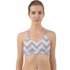CHEVRON9 WHITE MARBLE & SAND (R) Back Web Sports Bra