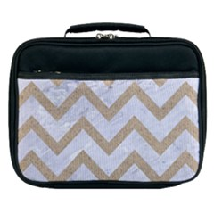 CHEVRON9 WHITE MARBLE & SAND (R) Lunch Bag