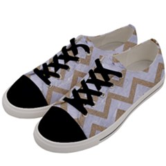 CHEVRON9 WHITE MARBLE & SAND (R) Men s Low Top Canvas Sneakers