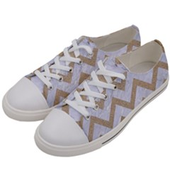 CHEVRON9 WHITE MARBLE & SAND (R) Women s Low Top Canvas Sneakers