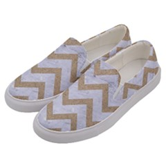 CHEVRON9 WHITE MARBLE & SAND (R) Men s Canvas Slip Ons