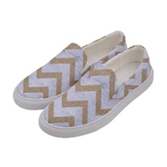 CHEVRON9 WHITE MARBLE & SAND (R) Women s Canvas Slip Ons