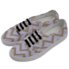 CHEVRON9 WHITE MARBLE & SAND (R) Men s Classic Low Top Sneakers