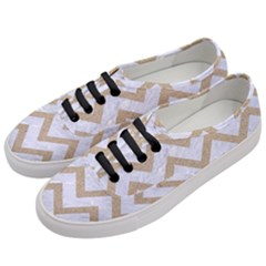 CHEVRON9 WHITE MARBLE & SAND (R) Women s Classic Low Top Sneakers