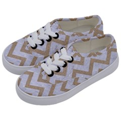CHEVRON9 WHITE MARBLE & SAND (R) Kids  Classic Low Top Sneakers