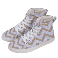 CHEVRON9 WHITE MARBLE & SAND (R) Men s Hi-Top Skate Sneakers