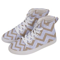 CHEVRON9 WHITE MARBLE & SAND (R) Women s Hi-Top Skate Sneakers