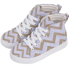 CHEVRON9 WHITE MARBLE & SAND (R) Kid s Hi-Top Skate Sneakers