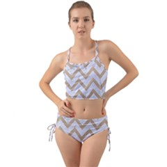 CHEVRON9 WHITE MARBLE & SAND (R) Mini Tank Bikini Set