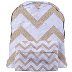 CHEVRON9 WHITE MARBLE & SAND (R) Giant Full Print Backpack