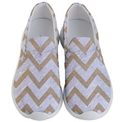 CHEVRON9 WHITE MARBLE & SAND (R) Men s Lightweight Slip Ons