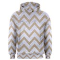 CHEVRON9 WHITE MARBLE & SAND (R) Men s Overhead Hoodie View1
