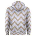 CHEVRON9 WHITE MARBLE & SAND (R) Men s Overhead Hoodie View2