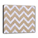 CHEVRON9 WHITE MARBLE & SAND Deluxe Canvas 24  x 20   View1