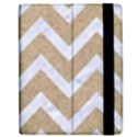 CHEVRON9 WHITE MARBLE & SAND Apple iPad 2 Flip Case View2