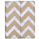 CHEVRON9 WHITE MARBLE & SAND Apple iPad Mini Flip Case View1