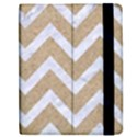 CHEVRON9 WHITE MARBLE & SAND Apple iPad Mini Flip Case View2