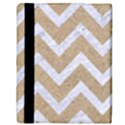 CHEVRON9 WHITE MARBLE & SAND Apple iPad Mini Flip Case View3