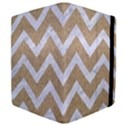 CHEVRON9 WHITE MARBLE & SAND Apple iPad Mini Flip Case View4