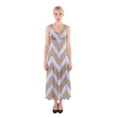 CHEVRON9 WHITE MARBLE & SAND Sleeveless Maxi Dress