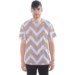Chevron9 White Marble & Sand Men s Sports Mesh Tee