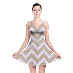 CHEVRON9 WHITE MARBLE & SAND Reversible Skater Dress