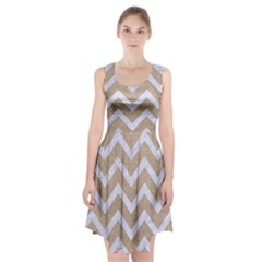Chevron9 White Marble & Sand Racerback Midi Dress
