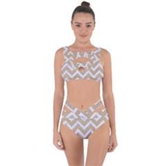 CHEVRON9 WHITE MARBLE & SAND Bandaged Up Bikini Set