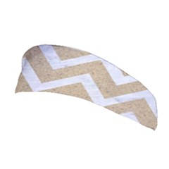 Chevron9 White Marble & Sand Stretchable Headband