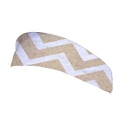 CHEVRON9 WHITE MARBLE & SAND Stretchable Headband