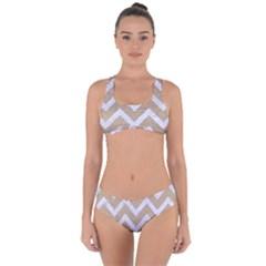 CHEVRON9 WHITE MARBLE & SAND Criss Cross Bikini Set